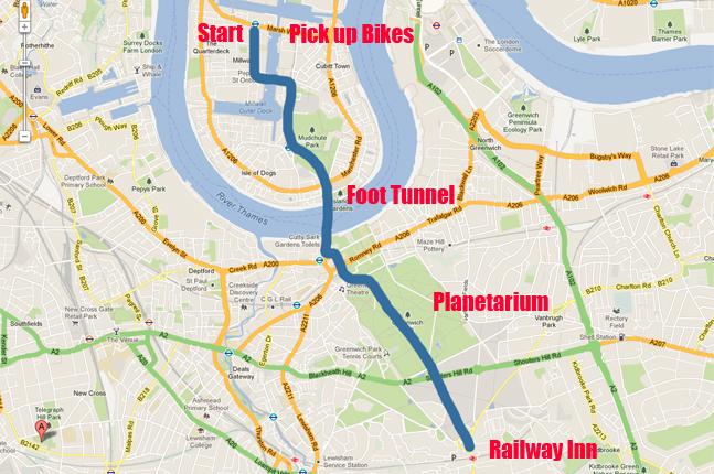 Greenwich to Blackheath Route
