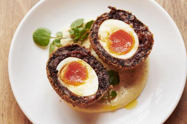 scotch egg dish food