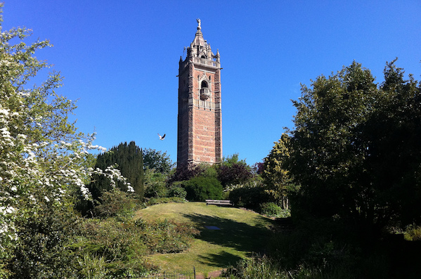 Cabot Tower on a sunny day