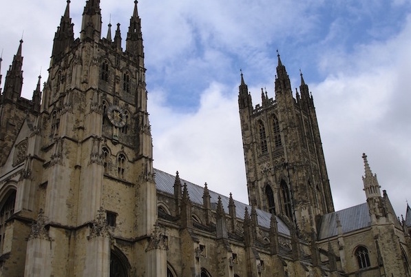 Canterbury Cathedral from the front.