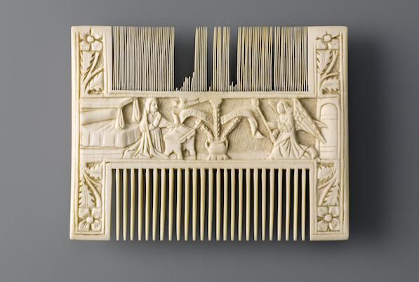 Comb with The Annunciation, Kunstgewerbemuseum, Berlin