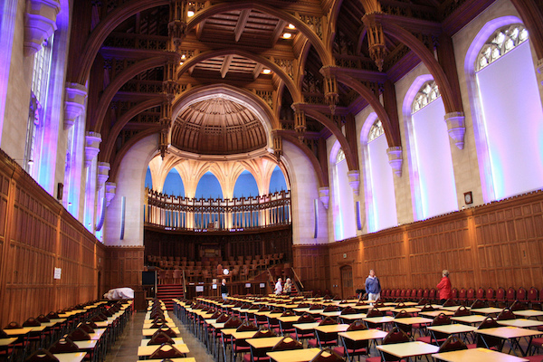 The Great Hall in the Wills Memorial Building.