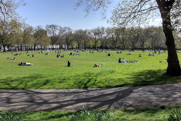 Highbury Fields park Islington