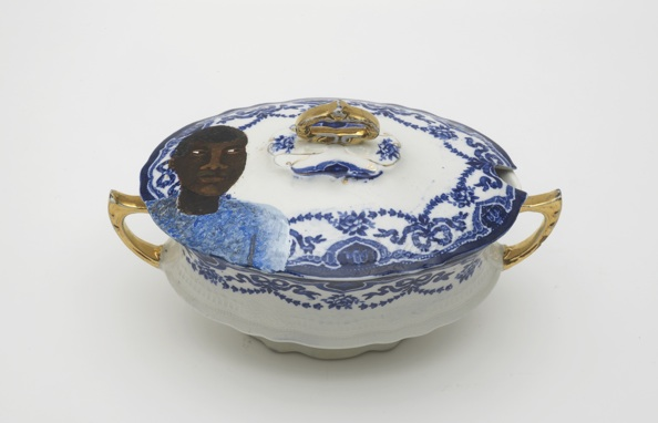 Lubaina Himid, Swallow Hard: The Lancaster Dinner Service (detail), 2007. Courtesy the artist & Hollybush Gardens. Photo Credit: Andy Keate