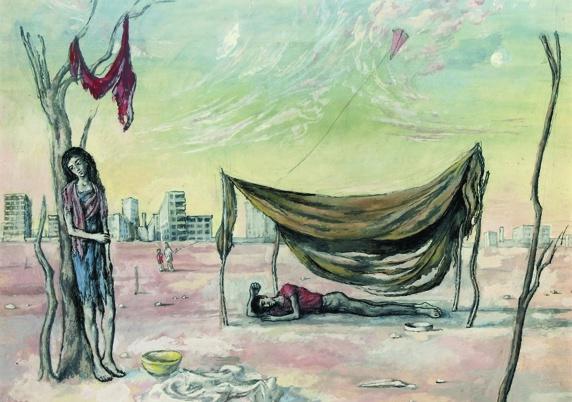John Minton (1917-1957) The Kite, 1940 © The Estate of John Minton and Royal College of Art