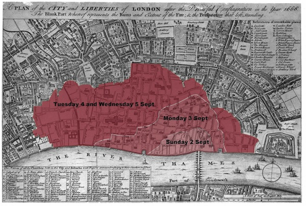 Map Of London 1600.Step Back 350 Years And Experience The Great Fire Of London In 1666