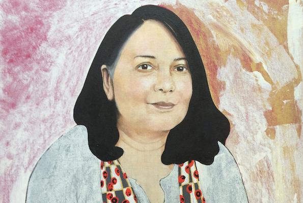Mark Haddon, Sunetra (Gupta), Acrylic, 2016