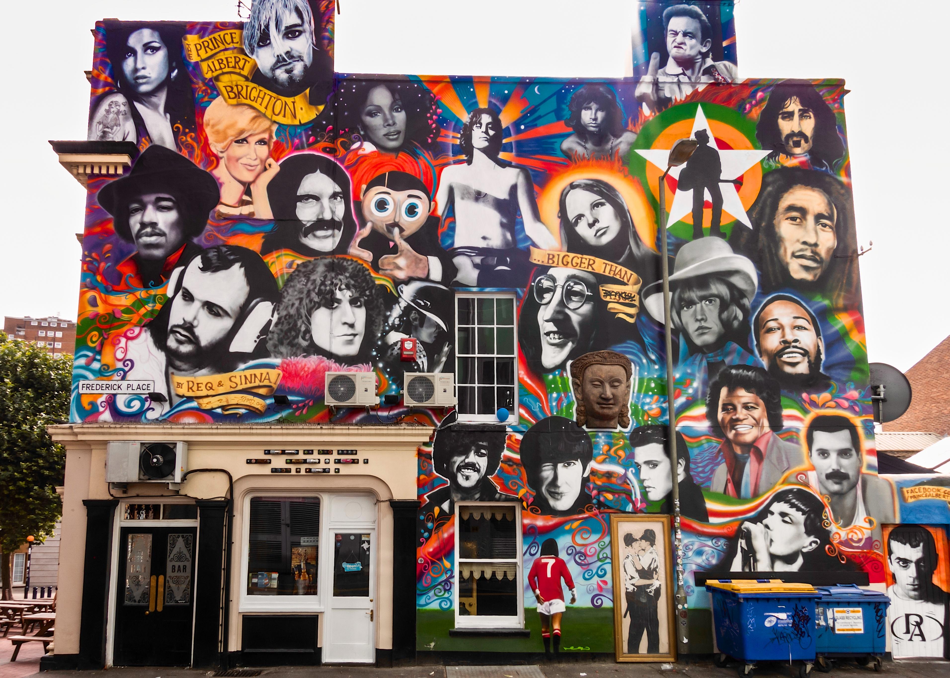 The Prince Albert Graffiti Brighton