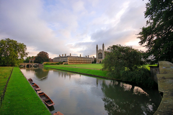 The view from the Backs, Cambridge.