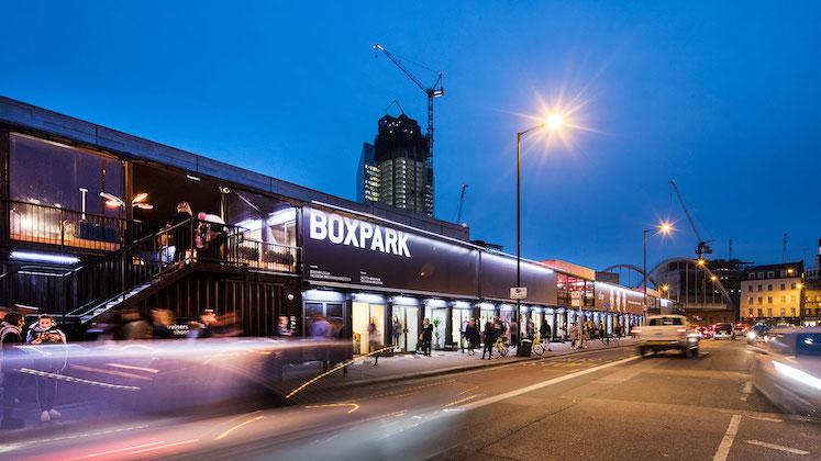 Boxpark Shoreditch street food market East London