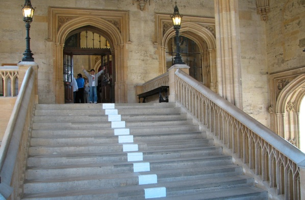 Steps up to Christ Church dining hall. photo: Veggiefrog