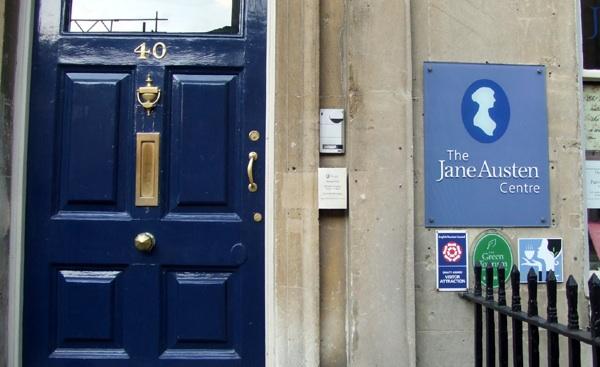 The front door to the Jane Austen Museum