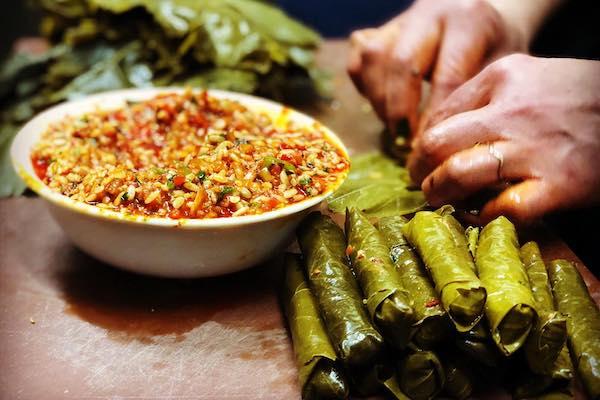 Şömine Turkish Food restaurant vine leaves