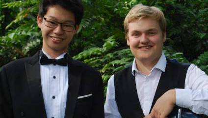 Two musicians from the Doctors' Orchestra for their 10th gala concert in aid of Freedom from Torture