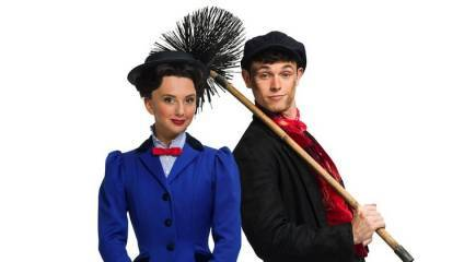 Zizi Strallen as Mary Poppins and Charlie Stemp as Burt in the West End revival of Mary Poppins the musical